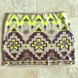 Express Mini Tribal Skirt